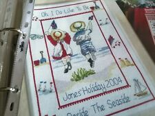 CROSS STITCH CHART ALL OUR YESTERDAYS SEASIDE HOLIDAY SAMPLER CHART