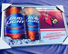 "Bud Light Louisville Cardinals NCAA Football  Beer Bar Mirror  ""New"" 34x22"