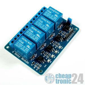 4-Kanal 5V Relais Modul Optokoppler Relay Low Pegel Arduino Raspberry Pi