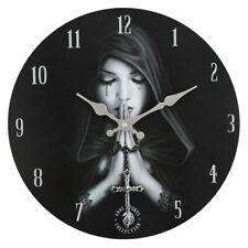 Gothique Prière - Horloge Murale Par Anne Stokes - Tout Neuf