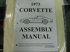 1973 CORVETTE (ALL MODELS) ASSEMBLY MANUAL