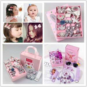 New Girls Bow Knot Hair Clip Hairband Baby Hair Barrette Hairpin Party Gift Set
