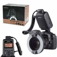 Yongnuo YN-14EX LED Flash Light LITE E-TTL with Macro Rings Adater for Canon US