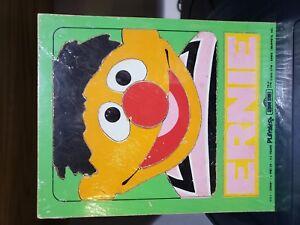 Vintage Muppets Sesame Street Playskool Wood Tray Puzzle Ernie 1973