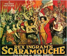 SCARAMOUCHE Movie POSTER 27x40 Lloyd Ingraham Alice Terry Ramon Novarro Lewis