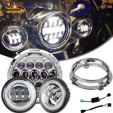"Yamaha Royal Star Venture XVZ1300 7"" LED Daymaker Headlight Passing Lights Black"