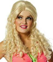 PERRUQUE Femme Longue BLONDE Ondulée Déguisement Princesse Disco Hippie NEUF