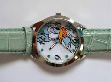 NEW? Disney Daisy Duck Watch DAS002 light blue strap runs great new battery