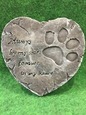 Heart Shape Pet Memorial & Plinth (Grey)