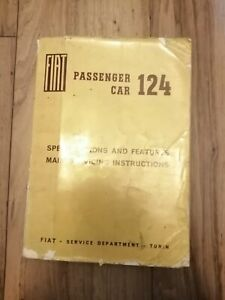 Fiat 124 Passenger car Specifications and Features Main Servicing Instructions