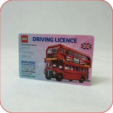 # LEGO 10258 London Bus Limited Edition Driving License Very Rare New Mint