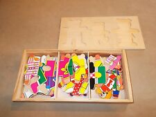 Wooden Three Bears Mix and Match Puzzle Game Childrens Educational Fun
