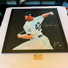 Stunning Mariano Rivera Signed Large Original Art 26x26 Painting Steiner COA