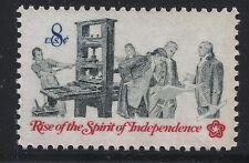US Scott #1476, Single 1973 Spirit of Independence 8c FVF MNH