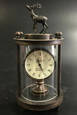 Chinese Bronze Dree Watch Mechanical Table Clock Decorations Statue