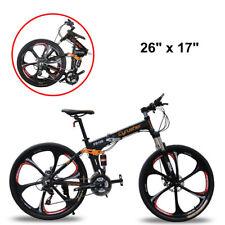 Cyrusher MTB Folding Mountain Bike 26 In 24 Speeds Full Suspension (not ebike)