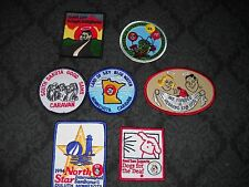 UNUSED NEW LOT OF 7 VINTAGE PATCHES GOOD SAMS, SD, MN