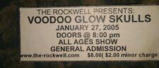 Voodoo Glow Skulls * Rare Concert Unused Ticket * Springfield, Mo 1/27/2005 #1