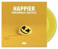 """Marshmello / Bastille - Happier 7"""" Single Yellow Vinyl LP Record"""