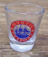 Mystic Seaport Clear Shot Glass Bar Barware Museum of America Sea Connecticut