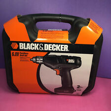 Black And Decker 6.0v Cordless Drill Kit and Case