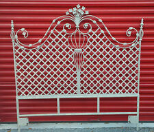Headboard Iron Lattice Fabulous Vintage Chic & Shabby Paris Apartment Estate