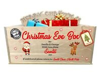 Personalised Christmas Eve Santa Box - Quality Oak Veneer Wooden Father Xmas