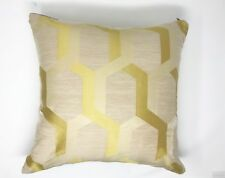 Gaudi Geo Yellow Cream 43cm X43cm Square Cushion With Inner Pad
