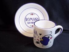 Romana Sambuca liqueur shot or espresso mug & saucer 2.5 oz Italy
