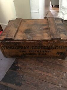Antique Gordens Wooden Crate/box Waxed With Bees Wax,Pre 1920s