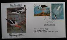 1985 Niger Birds 200th Anniv Birth of John J. Audubon FDC ties 2 stamps Niamey