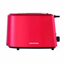 Grundig TA 4620 R Toaster Rot Aufwärmfunktion Bräunungskontrolle