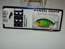 #1099 New Rebel Super Teeny R Fire Tiger Crankbait Fishing Lure