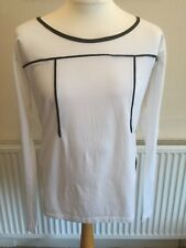 "PRADA Milano Long Sleeve T-Shirt MEDIUM Chest 40"" Outward Tag White"