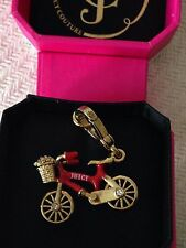 BRAND NEW JUICY COUTURE RED BIKE BRACELET CHARM IN TAGGED BOX
