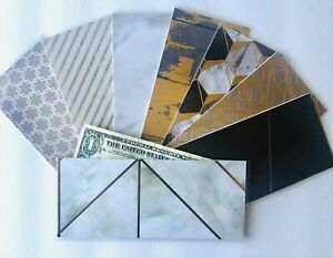 8x Laminated Cash Envelope Handmade DAVE RAMSEY Budget System Foil Marble Wood 2