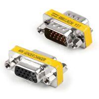 15 Pin VGA SVGA Gender Changer Adaptor Connecteur Coupler Convertisseur M/M F/F