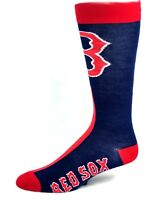 Boston Red Sox Baseball Adult Mismatch Crew Socks Navy Medium 528bfd696