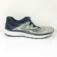 Saucony Mens Guide ISO S20415-1 Gray Black Running Shoes Lace Up Low Top Size 10