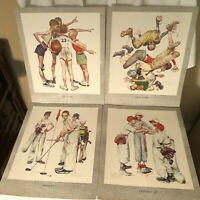 """""""When We Were Young"""" Four Classic Norman Rockwell Prints Presented By Hotpoint"""