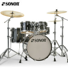 "NEW Sonor AQ2 Series 5 Piece 20"" STUDIO Drum Set Shell Pack Transparent Black"