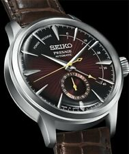 Seiko PRESAGE Cocktail Automatic Brown Dial Power Reserve Leather SSA393