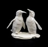 9959461 Porzellan Figur Pinguin Paar weiß  Vogel Ens 14x6x13cm