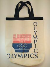 Vintage 1984 Olympic USA Canvas Tote Book Bag Summer Olympics Los Angeles
