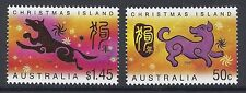 2006 CHRISTMAS ISLAND YEAR OF THE DOG SET OF 2 FINE MINT MNH/MUH