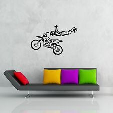 Wall Stickers Vinyl Decal Motorcycle Sport Freestyle Motocross Trials ig666