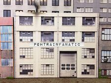 O Scale Scratch Built Industrial #3G Factory Building LED Flat/Front, MTH Lionel