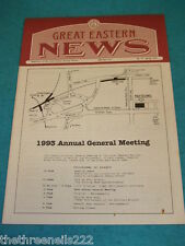 GREAT EASTERN NEWS # 74 - SPRING 1993