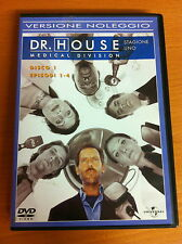 DR. HOUSE MEDICAL DIVISION - STAGIONE 1-DISCO 1 -EP. 1-4 DVD PERFETTO EDITORIALE