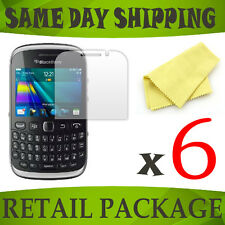6 screen protect protective protection film foil for Blackberry 9320 Curve